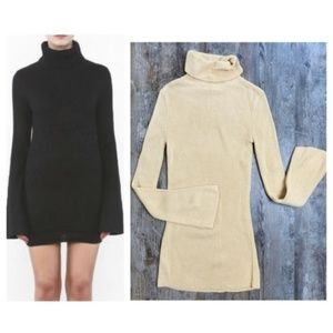 NEW Honey Punch Ribbed Turtleneck Sweater Dress
